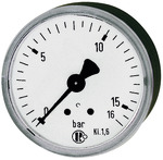 "Manometer, R 1/4"", waggerecht"